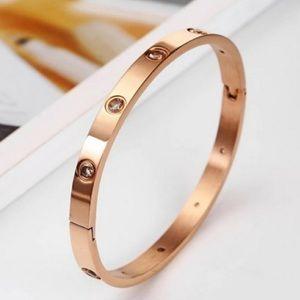 BANGLE 18K ROSE GOLD DIAMOND BRACELET